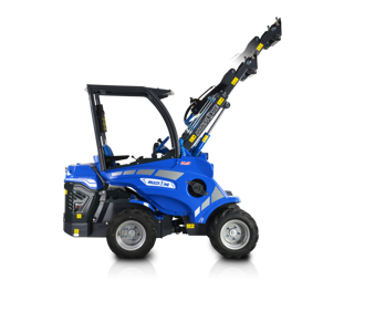Multione mini loader 5_series_left_side_extended_boom